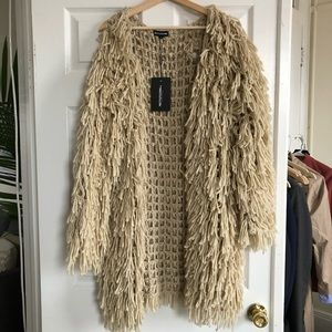 Jackets & Coats - Tan shaggy jacket